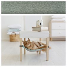 Cat Hammock with fleece for under chairs / green