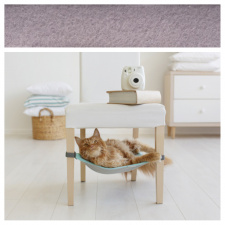 Cat Hammock with fleece for under chairs / grey