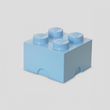 LEGO storage brick 4 light royal blue