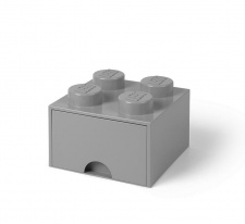 LEGO brick drawer 4 medium stone grey