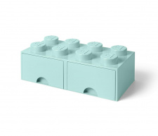 LEGO brick drawer 8 aqua