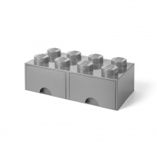 LEGO brick drawer 8 grey