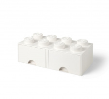 LEGO brick drawer 8 white