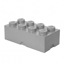 LEGO storage brick 8 stone grey