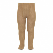 CONDOR wide-rib basic tights, camel