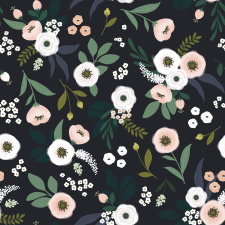LILIPINSO tapetas |  FLOWERS ON DARK BACKGROUND | PRE-ORDER