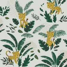 LILIPINSO tapetas | CHEETAH & TROPICAL LEAVES | PRE-ORDER