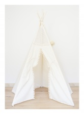 Mini Camp play tent teepee off-white