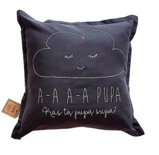 BUBOO cushion AA PUPA, dark grey