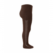 CONDOR openwork tights, brown