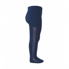 CONDOR openwork tights, navy blue