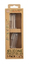Jack N' Jill Silicone Finger Brush 2 Pack - Stage 1 (6M - 18M)