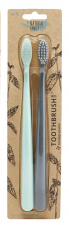 The Natural Family Co Bio Brush Twin Pk - Rivermint & Monsoon Mist