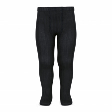 CONDOR wide-rib basic tights, black