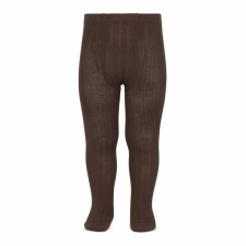 CONDOR wide-rib basic tights, brown