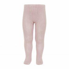 CONDOR wide-rib basic tights, old rose