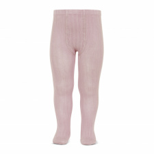 CONDOR wide-rib basic tights, pale pink
