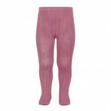 CONDOR wide-rib basic tights, tamarisk