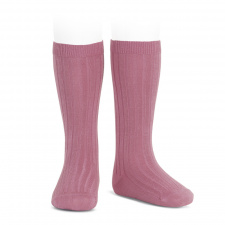 CONDOR wide-rib basic socks, tamarisk